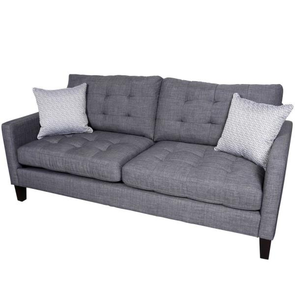 Draper Gray Contemporary Sofa