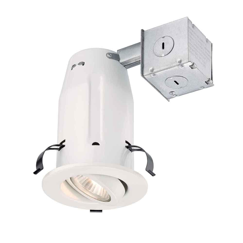 Recessed Lighting Gimbal : Commercial electric in white recessed gimbal kit