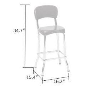Phenomenal Cosco Retro 2 Piece Red And Chrome 34In H High Top Chairs Spiritservingveterans Wood Chair Design Ideas Spiritservingveteransorg