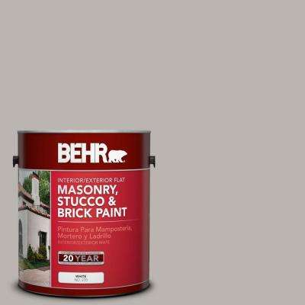 1 gal. #MS-84 French Gray Flat Interior/Exterior Masonry, Stucco and Brick Paint