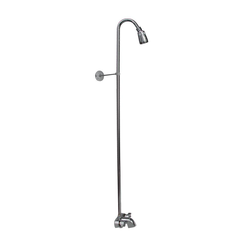 shower attachment for bathtub faucet. Pegasus 2 Handle Claw Foot Tub Faucet without Hand Shower with Riser and  Plastic Showerhead