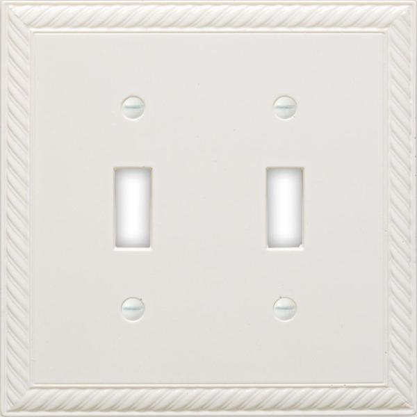 Hampton Bay Brown 1 Gang Toggle Wall Plate 1 Pack Swp102 02hb The Home Depot
