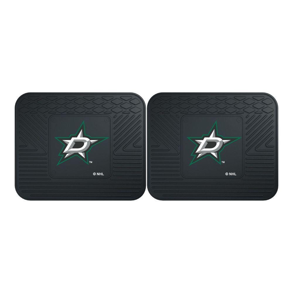 Fanmats Nhl Dallas Stars Black Heavy Duty 14 In X 17 In
