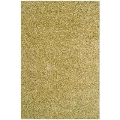 Santa Monica Shag Green 5 Ft. X 8 Ft. Area Rug