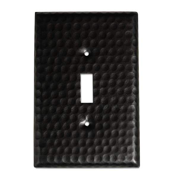 Monarch Abode Black 1 Gang Toggle Wall Plate 1 Pack 19107 The Home Depot