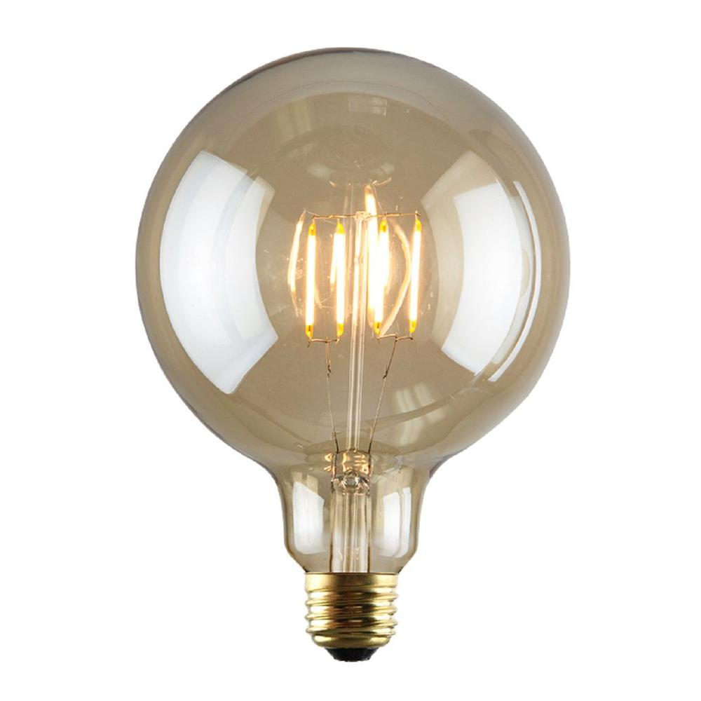 2W Equivalent 2,200K G40 Dimmable LED Filament Bulb