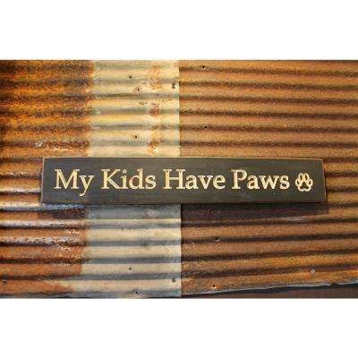 22 in. Black Pine Wood Sign