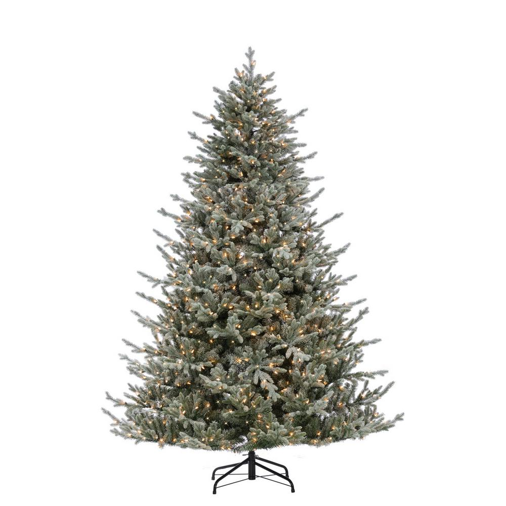 Where To Cut Christmas Trees: Sterling 7.5 Ft. Lightly Flocked Natural Cut Olympia Fir
