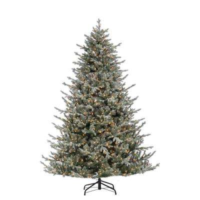 7.5 ft. Lightly Flocked Natural Cut Olympia Fir Artificial Christmas Tree with 800 Clear Lights