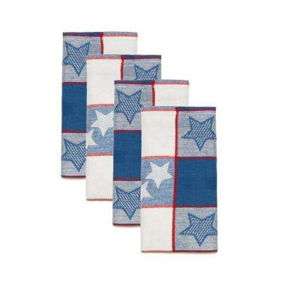 Independence Stripe 18 in. x 18 in. 100% Cotton Napkins (4-Pack)
