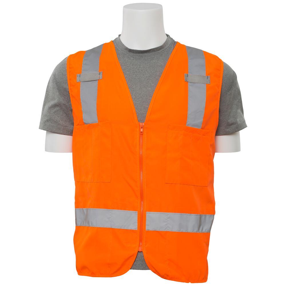 S414 3X Class 2 Poly Oxford Surveyor Hi Viz Orange Vest