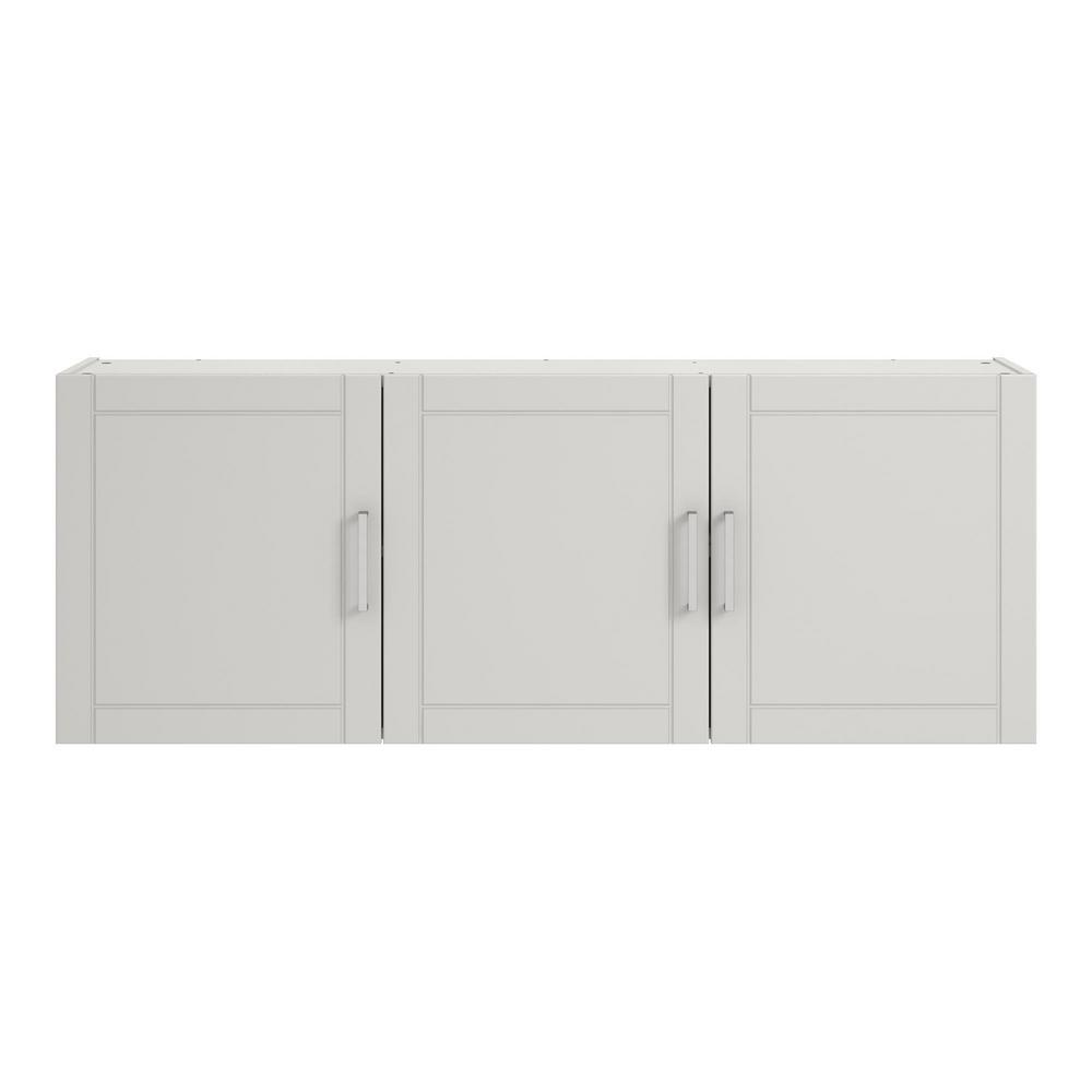 Brilliant Ameriwood Home Kai 20 31 In H X 54 In W X 12 44 In D Wall Cabinet In White Interior Design Ideas Ghosoteloinfo
