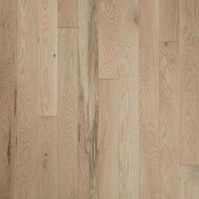 Plano Low Gloss Taupe Oak 3/4 in. Thick x 5 in. Wide x Varying Length Solid Hardwood Flooring (23.5 sq. ft./case)