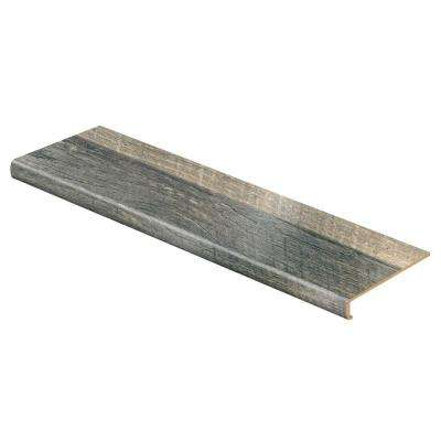 Cross Sawn Oak Grey 47 in. L x 12-1/8 in. D x 2-3/16 in. H Laminate to Cover Stairs 1-1/8 in. to 1-3/4 in. Thick