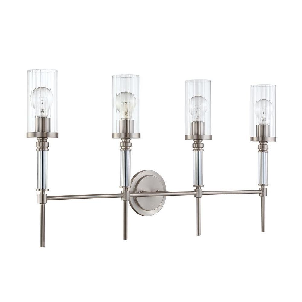 Middlebrooks 4-Light Satin Nickel Bath Vanity Light
