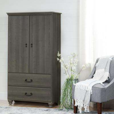 Noble Gray Maple Armoire