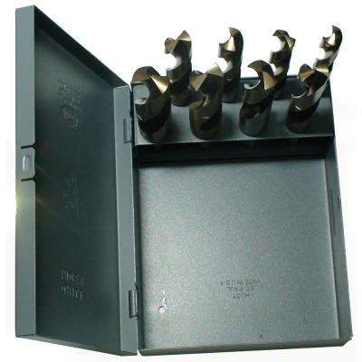 m35 Cobalt Reduced Shank Drill Bit Set in Metal Case (8-Piece)