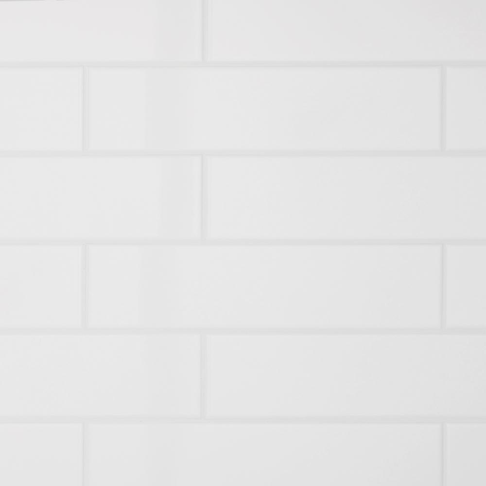 Daltile Restore 3 in. x 12 in. Ceramic Bright White Subway Tile (12 sq. ft. / Case)