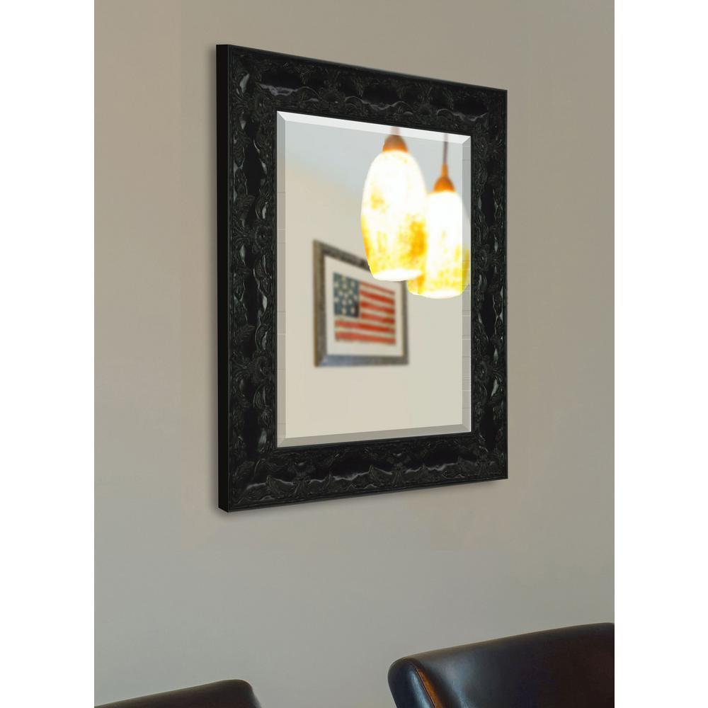 26 in. x 22 in. Black Endicott Beveled Vanity Wall Mirror