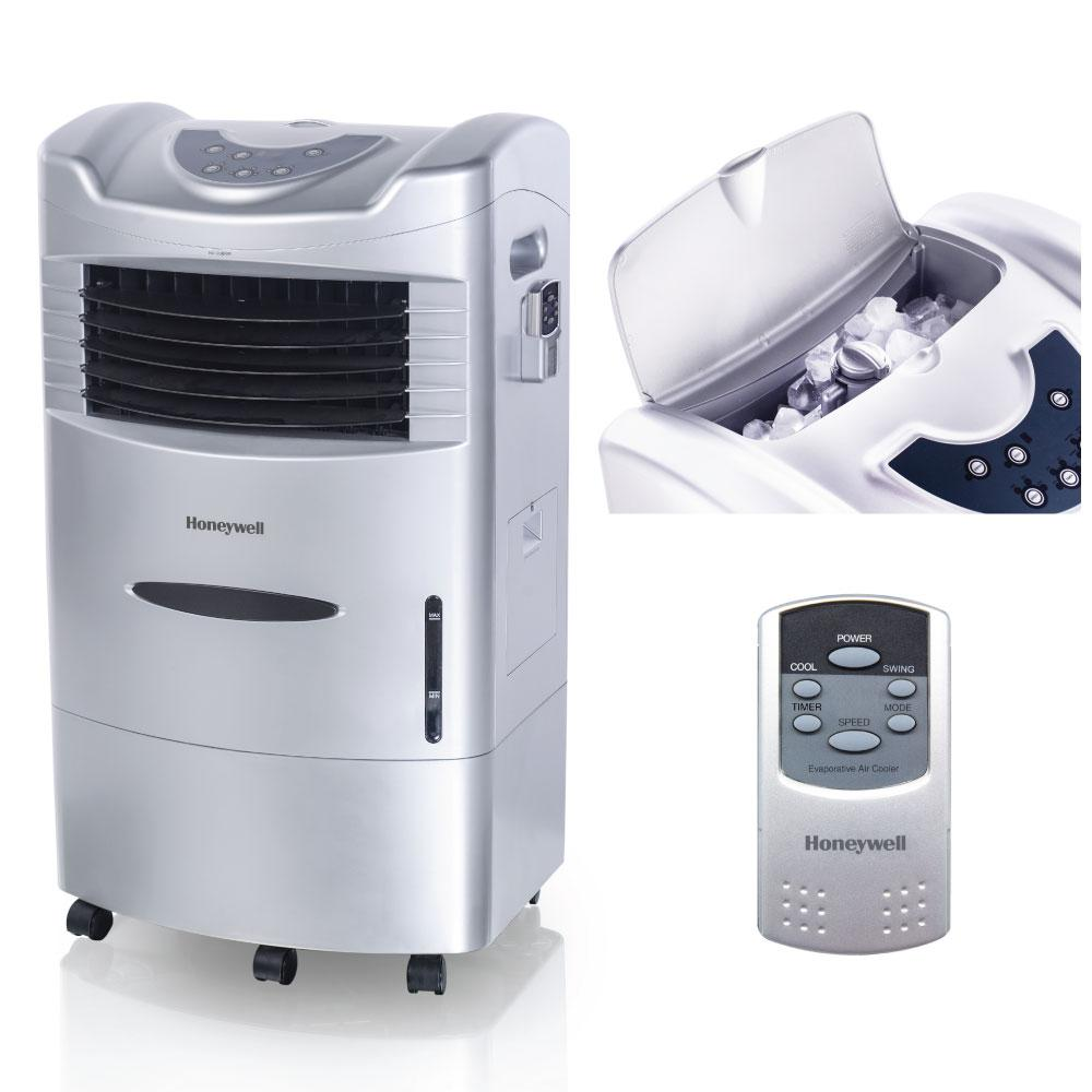 Honeywell 470 CFM 3-Speed Indoor Portable Evaporative Air Cooler (Swamp Cooler) with Remote Control for 280 sq. ft.