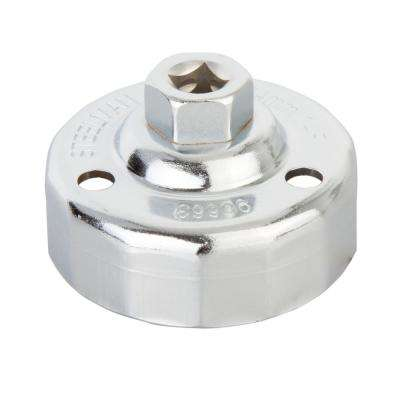 64 mm. x 14 Flute Oil Filter Cap Wrench, Chrome