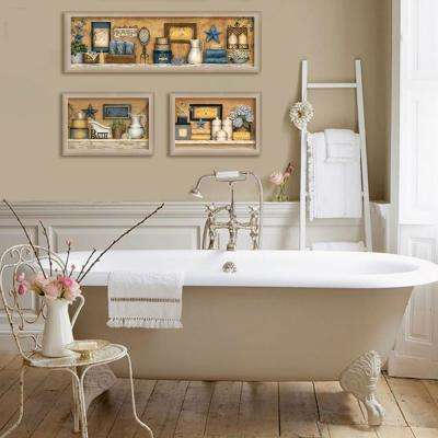 """11 in. x 33 in. """"Bathroom Collection III"""" Collection by Carrie Knoff, Printed Framed Wall Art"""