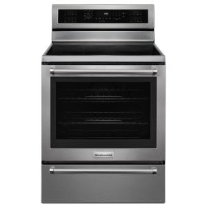 Click here to buy KitchenAid 30 inch 6.4 cu. ft. Electric Range with Self-Cleaning Convection Oven in Stainless Steel by KitchenAid.