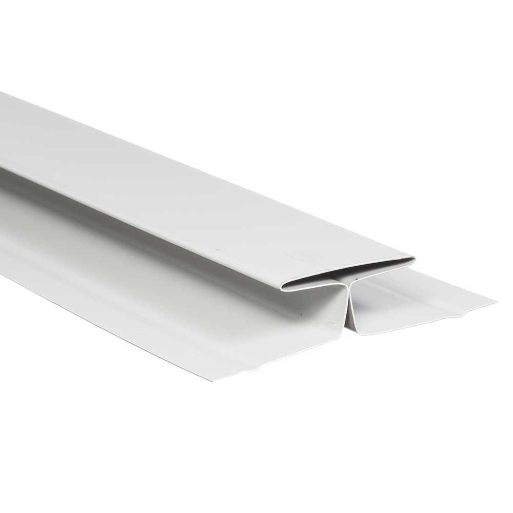 Gibraltar Building Products 1-1/2 in  x 10 ft  Birch White Aluminum Double  Channel Trim