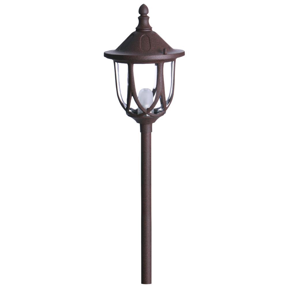 Low Voltage 10-Watt Rust Outdoor Landscape Standford Design Path Light Halogen bulb