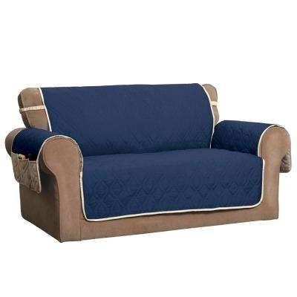 """5 Star Navy Sofa Protector"""