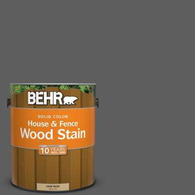 1 gal. #N520-6 Asphalt Gray Solid House and Fence Wood Stain