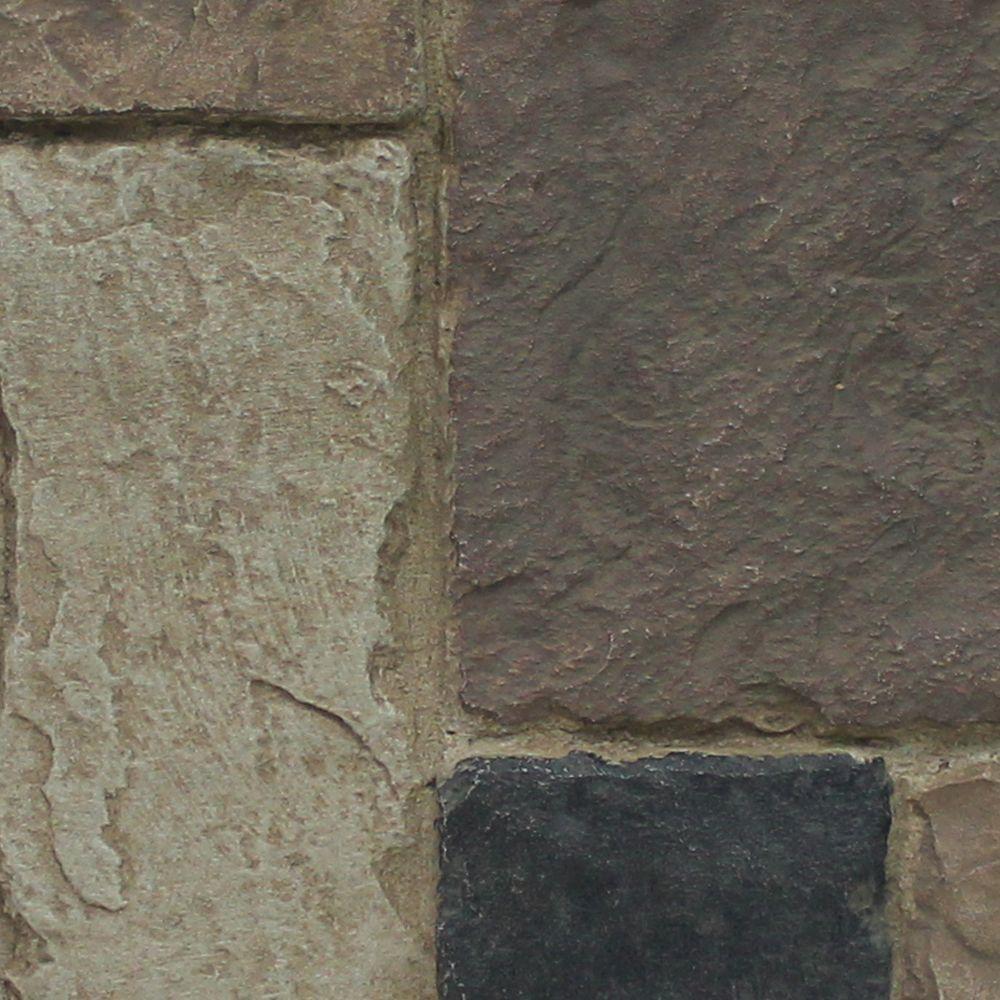 Rustic Lodge 8 in. x 8 in. x 3/4 in. Faux Windsor Stone Sample