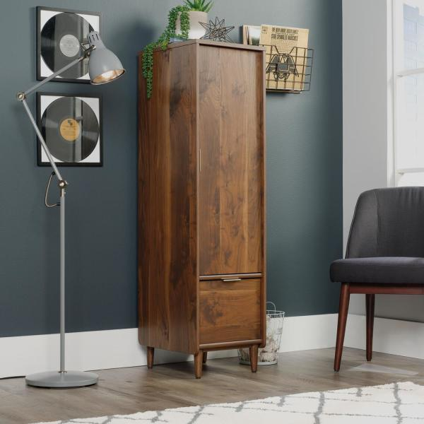 Sauder Clifford Place Grand Walnut Storage Cabinet With File