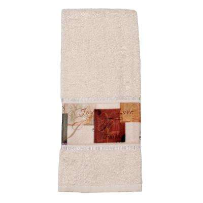 Tranquility Cotton Hand Towel in Natural