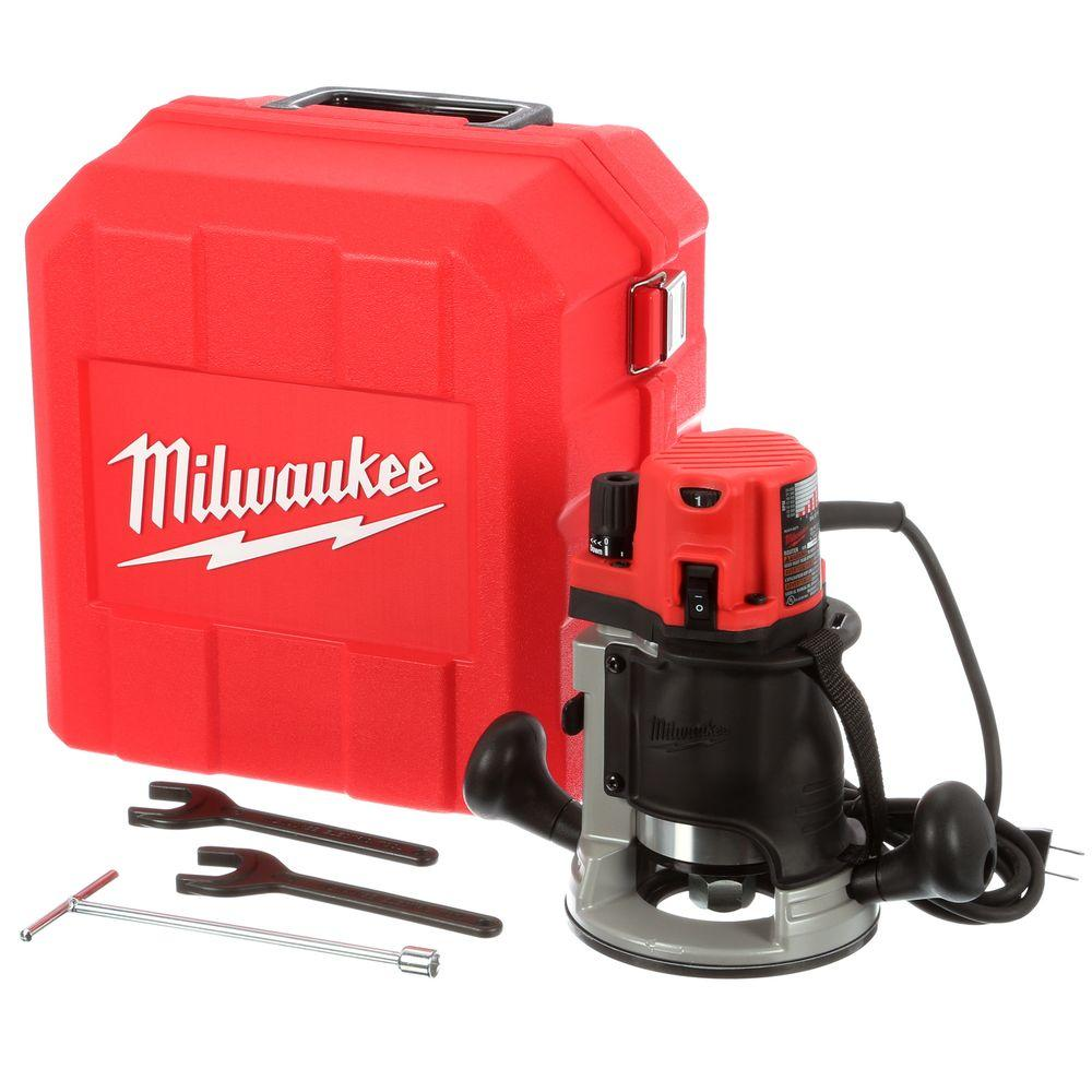 Milwaukee 2 14 max hp router kit with case 5616 21 the home depot milwaukee 2 14 max hp router kit with case greentooth Images