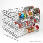 Mind Reader 3-Shelf Silver Metal Pantry Organizer with Can Holders
