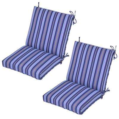 Mariner Stripe Outdoor Dining Chair Cushion (2-Pack)