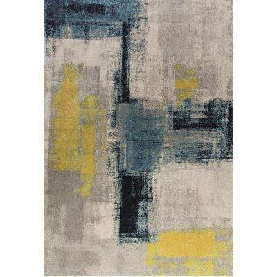 Fusion Abstract Multi 2 ft. x 4 ft. Indoor Area Rug