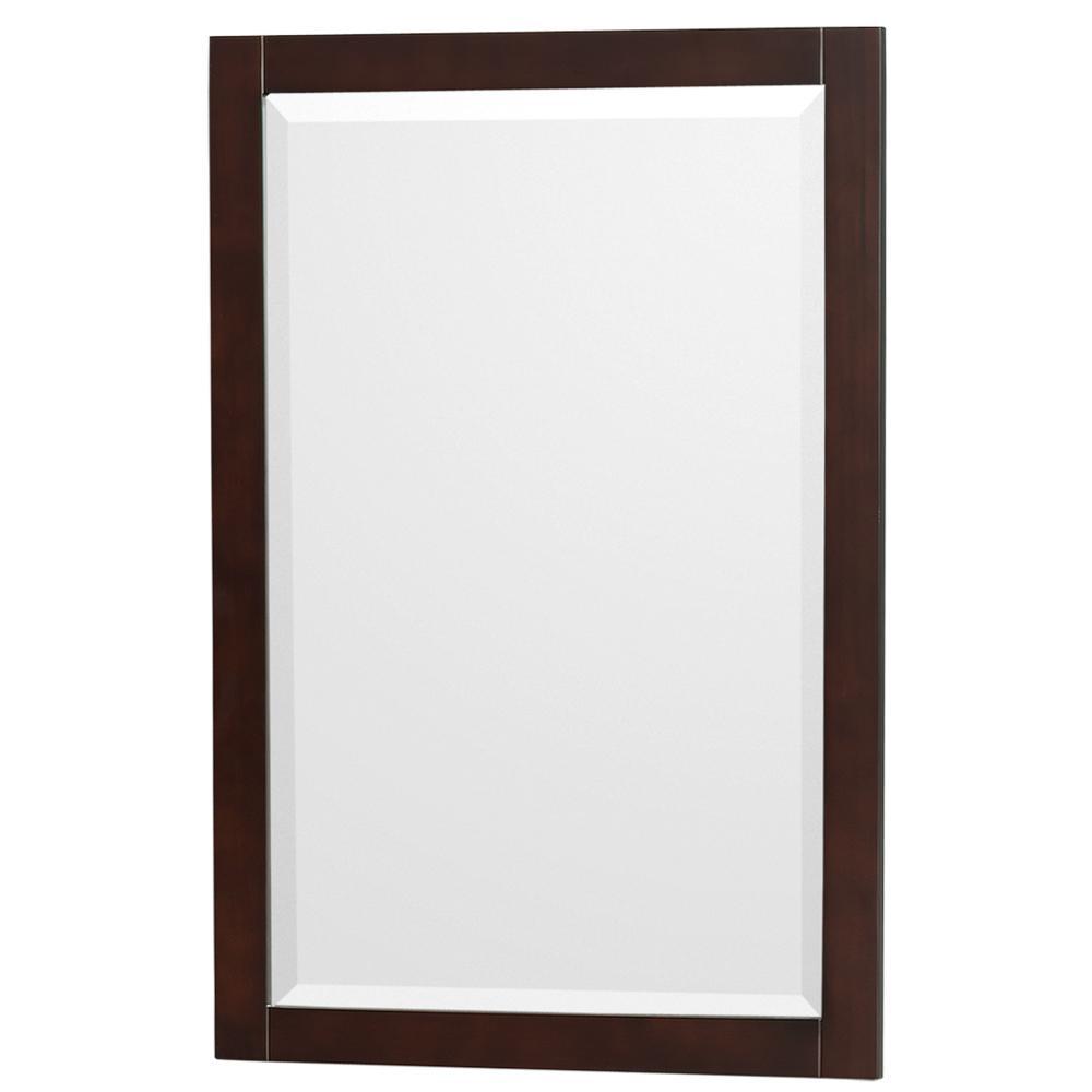 Acclaim 24 in. W x 36 in. H Framed Rectangular Bathroom Vanity Mirror in Espresso