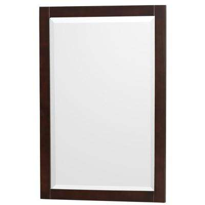Acclaim 24 in. W x 36 in. H Framed Wall Mirror in Espresso