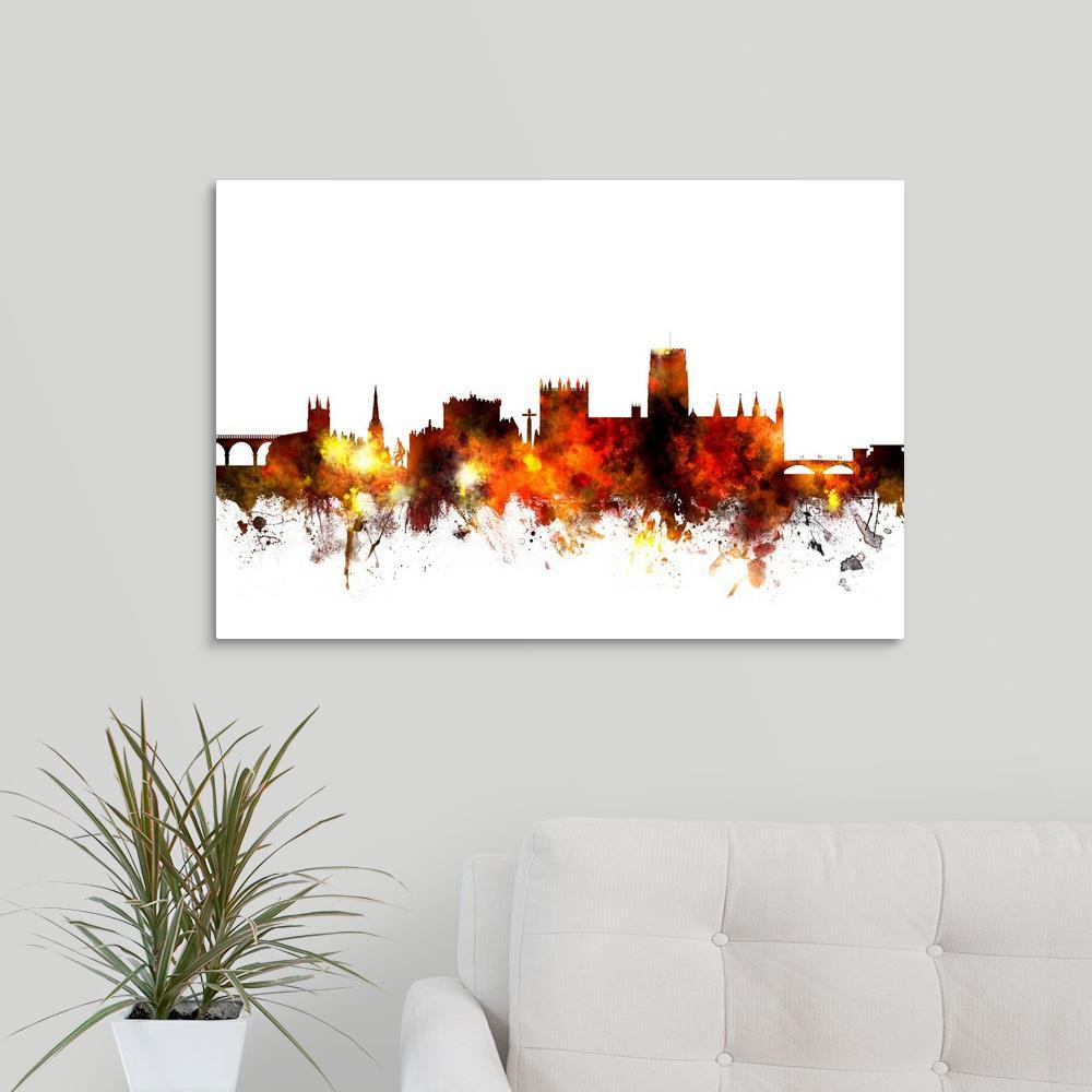 Greatbigcanvas Durham England Skyline By Michael Tompsett Canvas