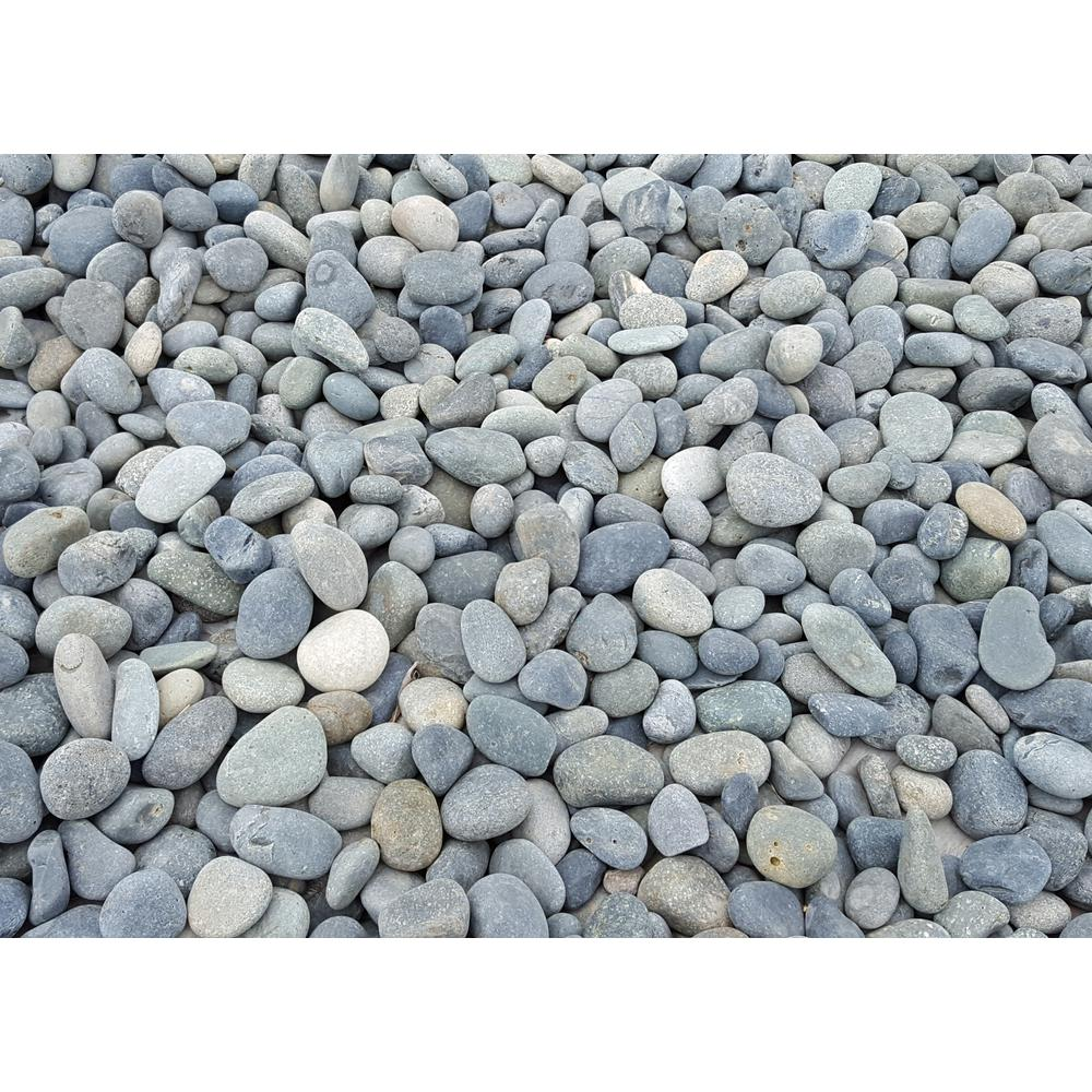 Classic stone 10 cu ft super sack mexican beach pebbles for Beach rocks for landscaping
