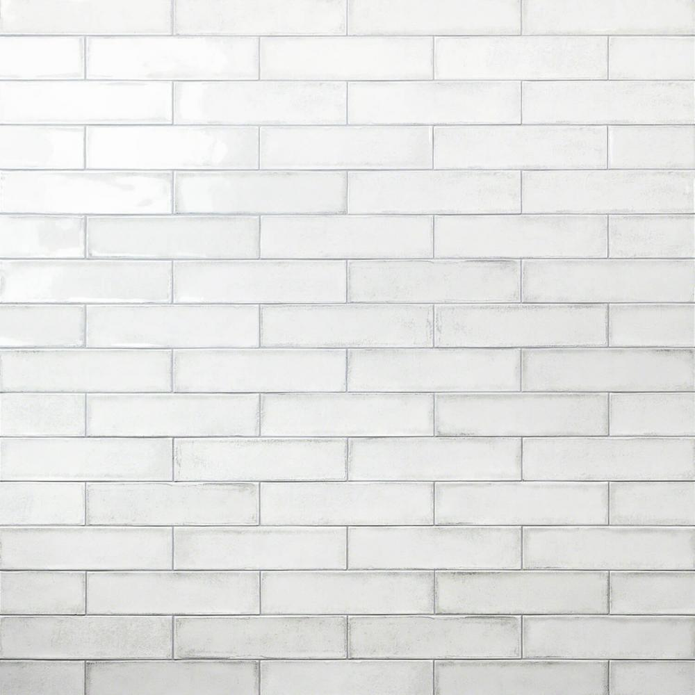 Ivy Hill Tile Moze White 3 In X 12 In 9 Mm Ceramic Wall Tile 22 Piece 5 38 Sq Ft Box