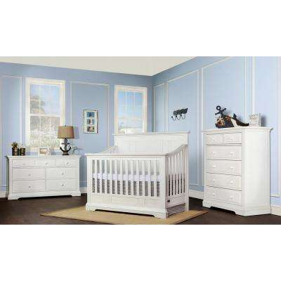 Parker Winter White 5-in-1 Convertible Crib