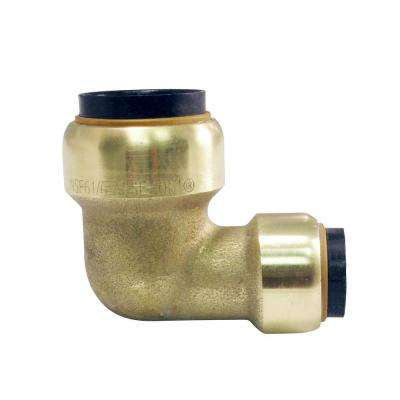 3/4 in. x 1/2 in. Brass Push-to-Connect 90-Degree Reducer Elbow