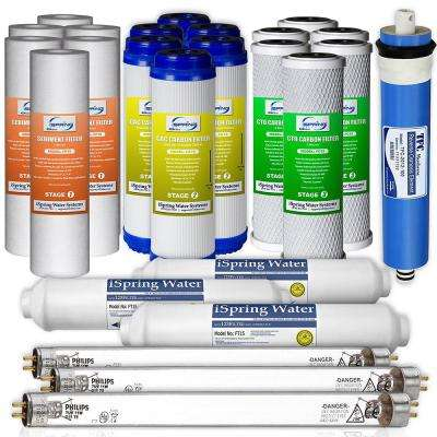 LittleWell 100 GPD 6-Stage UV Reverse Osmosis 3-Year Filter Set