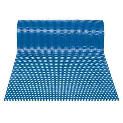 Airpath Light Blue 3 ft. x 30 ft. PVC Anti Fatigue and Safety Rug Runner