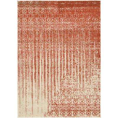 Del Mar Red 4 ft. x 6 ft. Area Rug