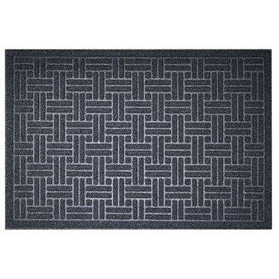 Bricks Charcoal 24 in. x 36 in. Door Mat