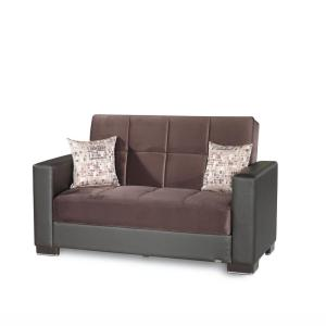 Ottomanson Armada brown Fabric Upholstery Love Seat w/Storage Deals